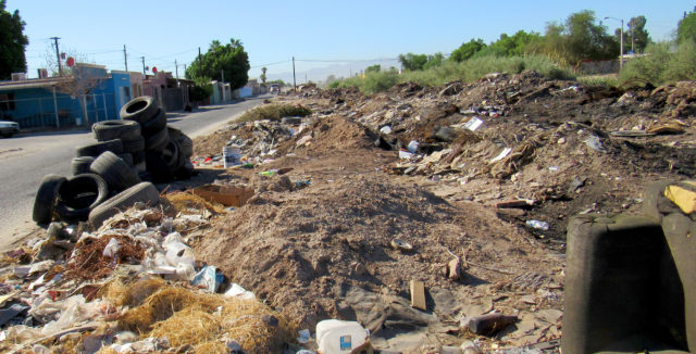 A typical area in need of clean up.